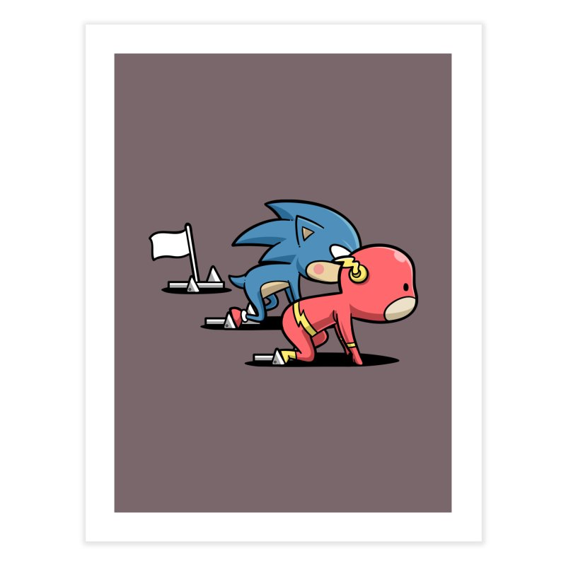 Sporty Buddy - Athletics Home Fine Art Print by Flying Mouse365