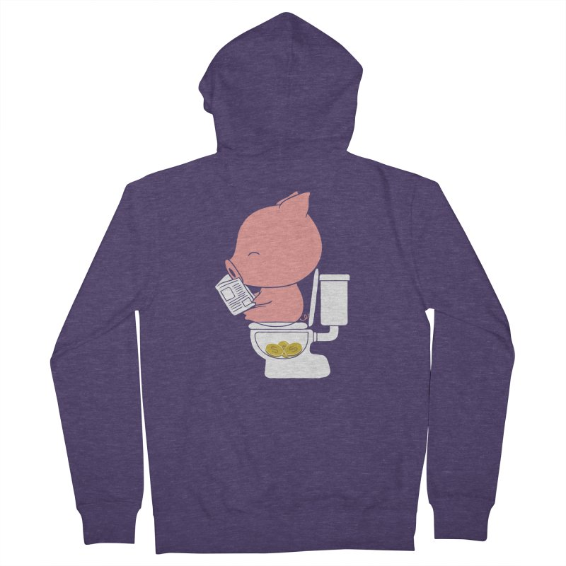 Cha Ching Men's Zip-Up Hoody by Flying Mouse365