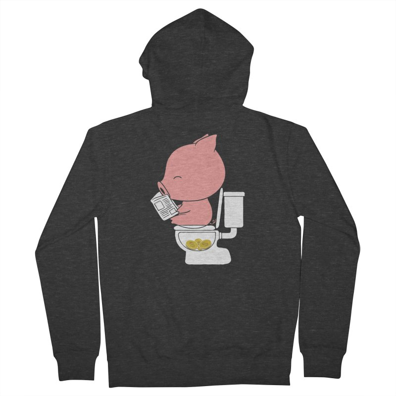 Cha Ching Men's French Terry Zip-Up Hoody by Flying Mouse365