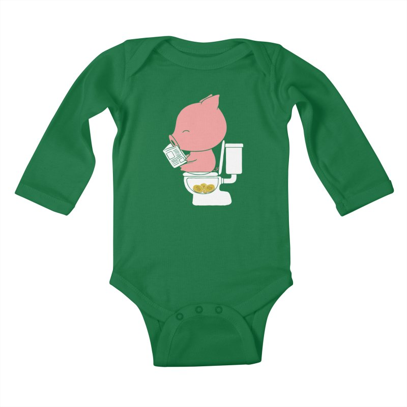 Cha Ching Kids Baby Longsleeve Bodysuit by Flying Mouse365