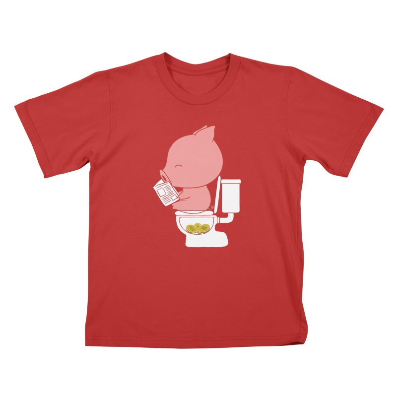 Cha Ching Kids T-Shirt by Flying Mouse365