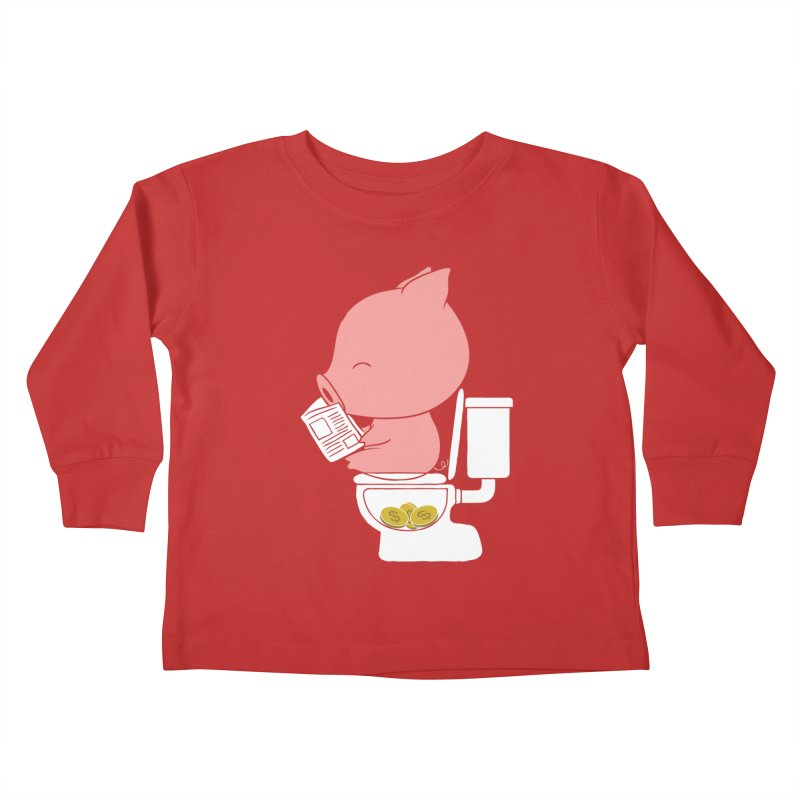 Cha Ching Kids Toddler Longsleeve T-Shirt by Flying Mouse365