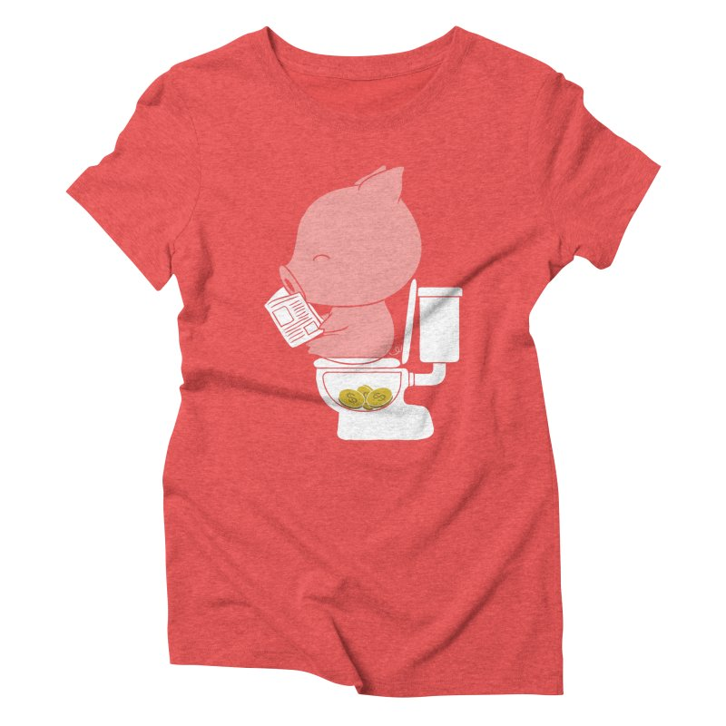 Cha Ching Women's Triblend T-Shirt by Flying Mouse365