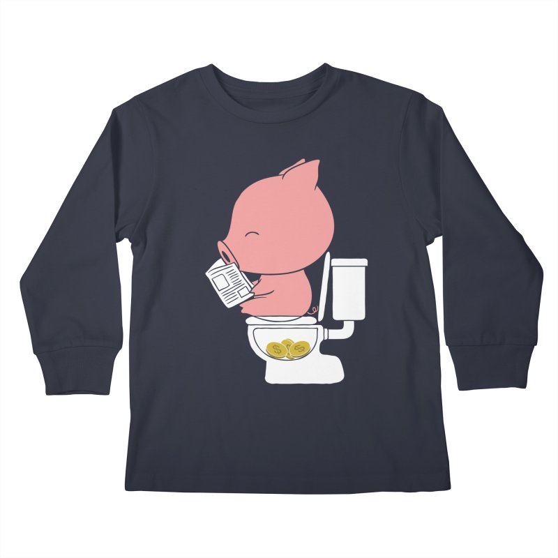 Cha Ching Kids Longsleeve T-Shirt by Flying Mouse365