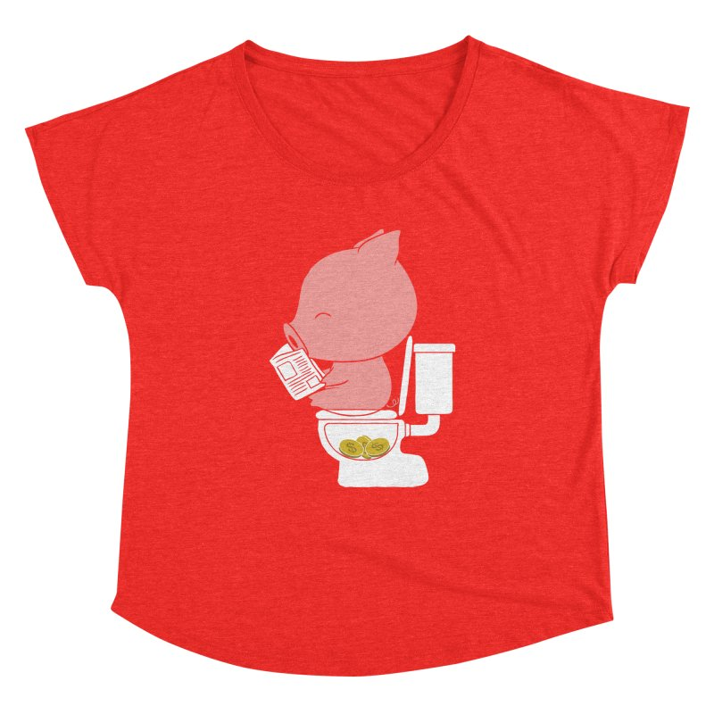 Cha Ching Women's Scoop Neck by Flying Mouse365