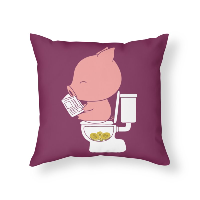 Cha Ching Home Throw Pillow by Flying Mouse365