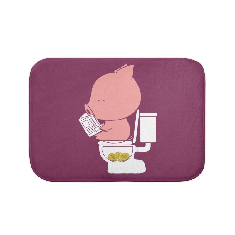 Cha Ching Home Bath Mat by Flying Mouse365