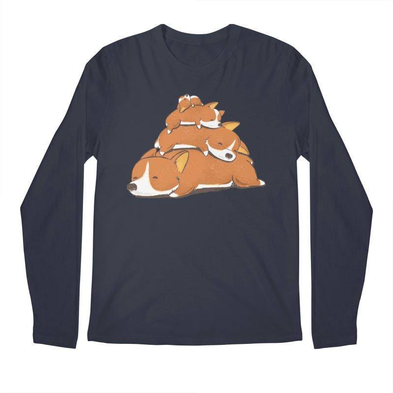 Comfy Bed - CORGI Men's Longsleeve T-Shirt by Flying Mouse365
