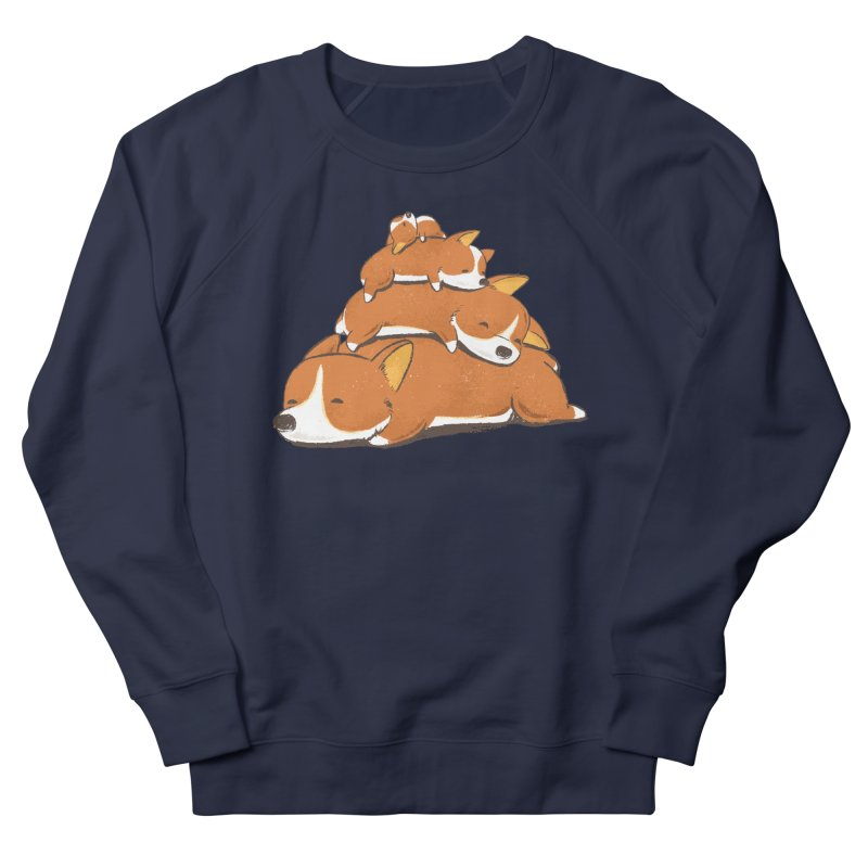 Comfy Bed - CORGI Men's Sweatshirt by Flying Mouse365