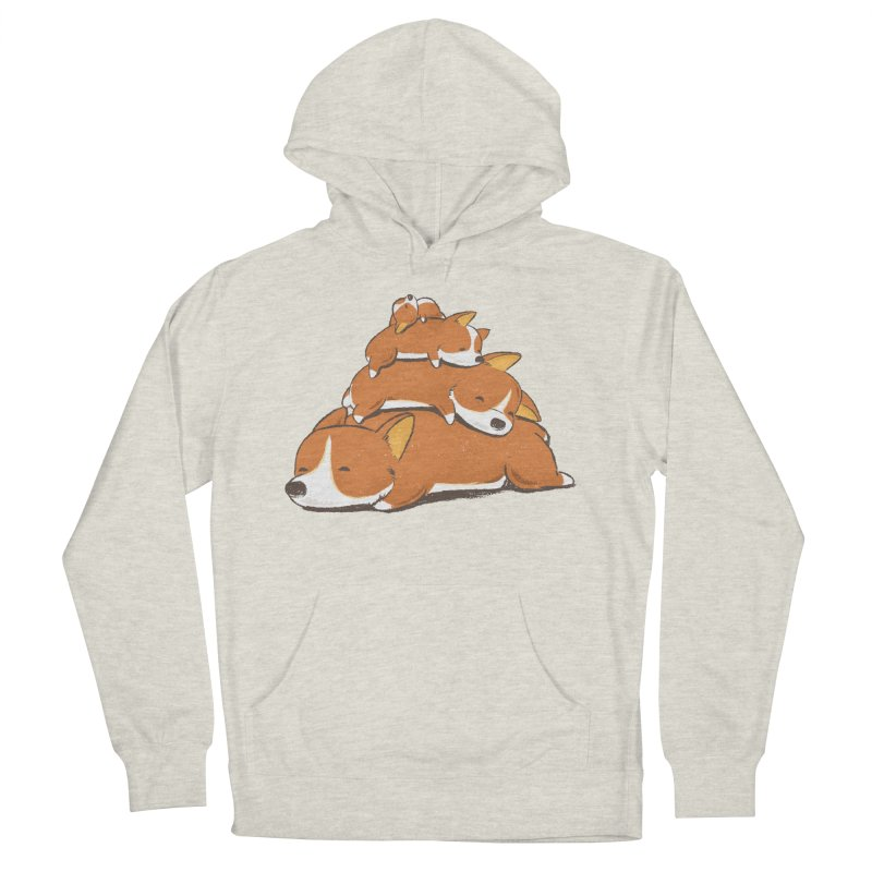 Comfy Bed - CORGI Women's French Terry Pullover Hoody by Flying Mouse365