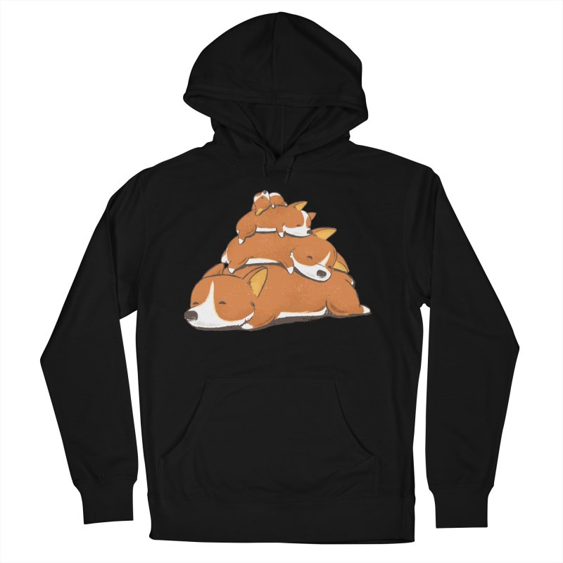 Comfy Bed - CORGI Women's Pullover Hoody by Flying Mouse365