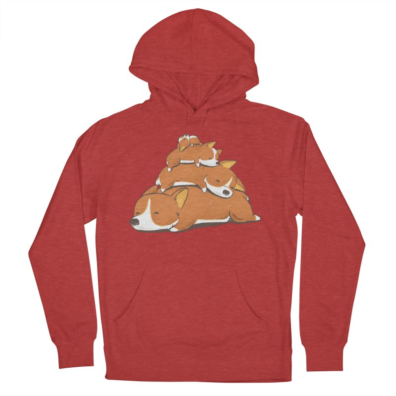 Comfy Bed - CORGI Men's Pullover Hoody by Flying Mouse365