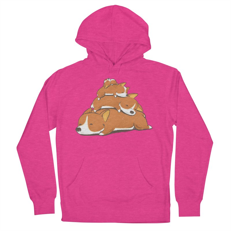 Comfy Bed - CORGI Men's French Terry Pullover Hoody by Flying Mouse365