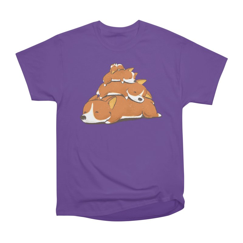 Comfy Bed - CORGI Women's Heavyweight Unisex T-Shirt by Flying Mouse365