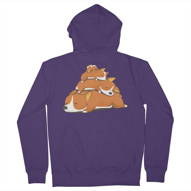 Comfy Bed - CORGI Women's Zip-Up Hoody by Flying Mouse365