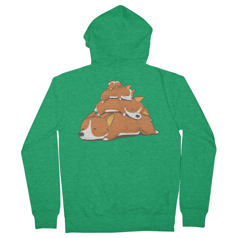 Comfy Bed - CORGI Men's Zip-Up Hoody by Flying Mouse365