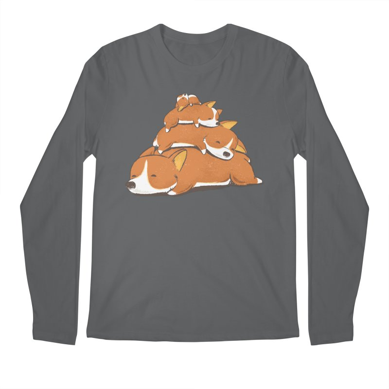 Comfy Bed - CORGI Men's Longsleeve T-Shirt by Flying Mouse365
