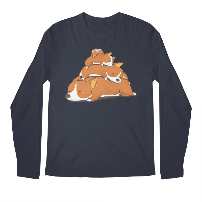 Comfy Bed - CORGI Men's Regular Longsleeve T-Shirt by Flying Mouse365
