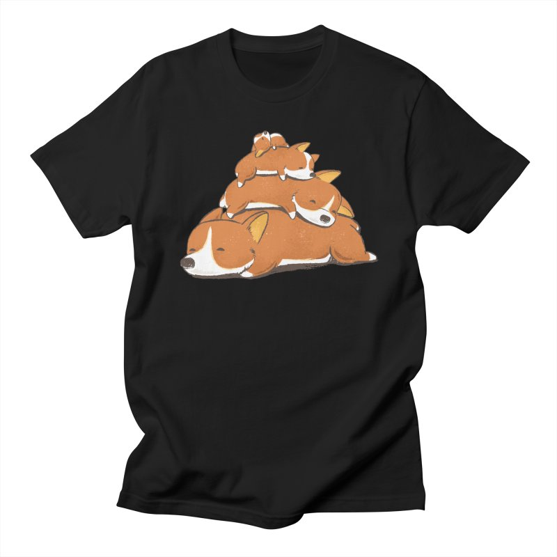 Comfy Bed - CORGI Women's Regular Unisex T-Shirt by Flying Mouse365