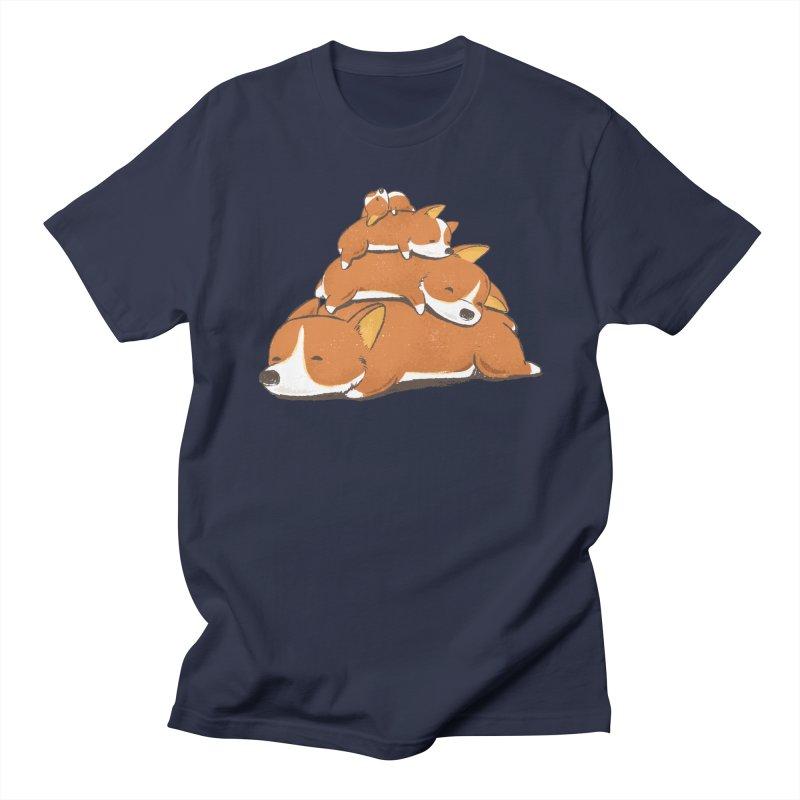 Comfy Bed - CORGI Men's Regular T-Shirt by Flying Mouse365