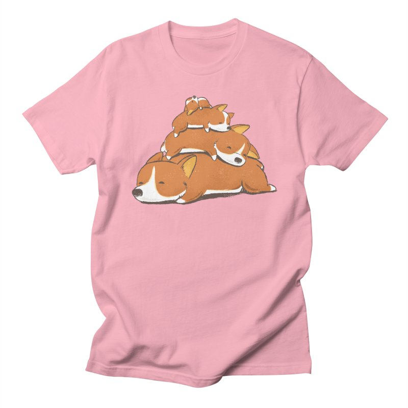 Comfy Bed - CORGI Men's Regular T-Shirt by Flying Mouse365