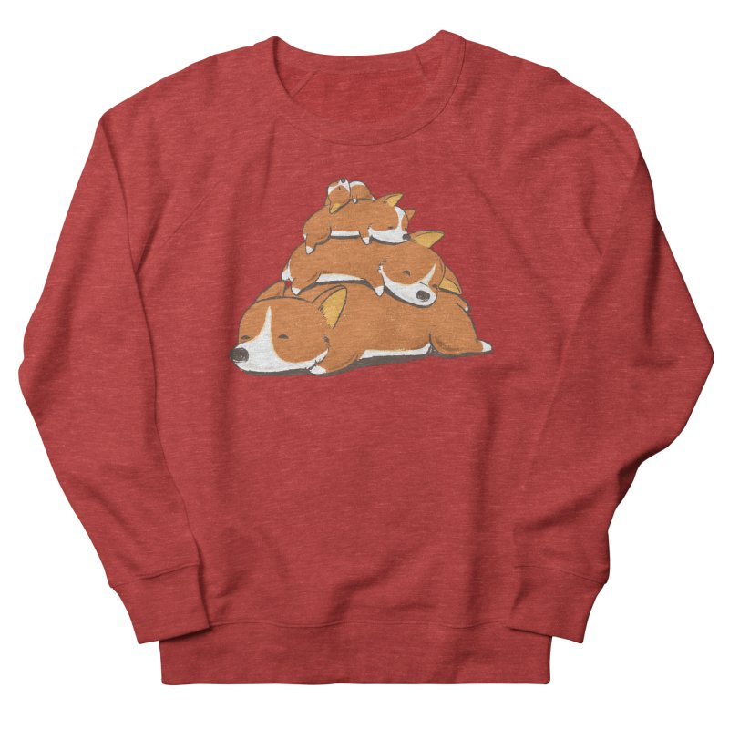 Comfy Bed - CORGI Women's Sweatshirt by Flying Mouse365
