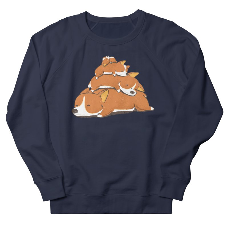 Comfy Bed - CORGI Women's French Terry Sweatshirt by Flying Mouse365