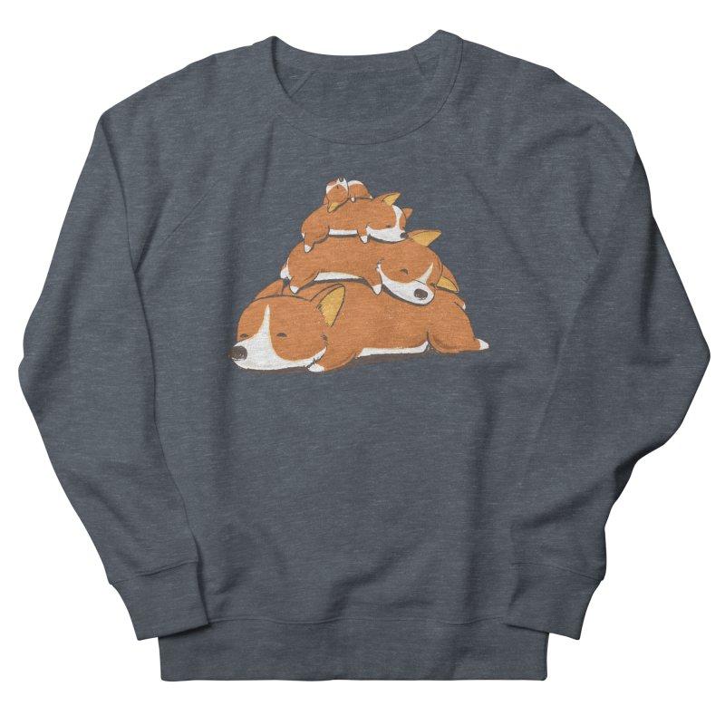 Comfy Bed - CORGI Men's Sweatshirt by Flying Mouse365