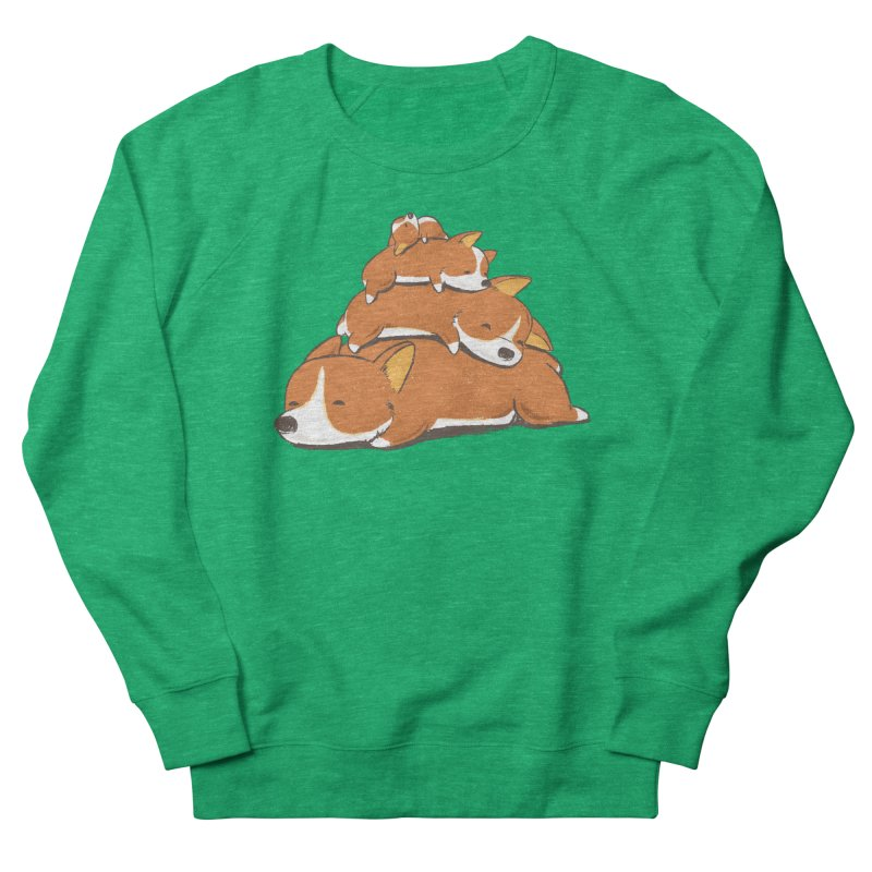 Comfy Bed - CORGI Men's French Terry Sweatshirt by Flying Mouse365