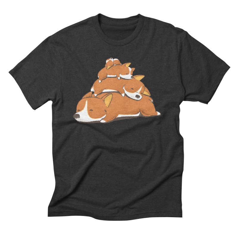 Comfy Bed - CORGI Men's Triblend T-Shirt by Flying Mouse365