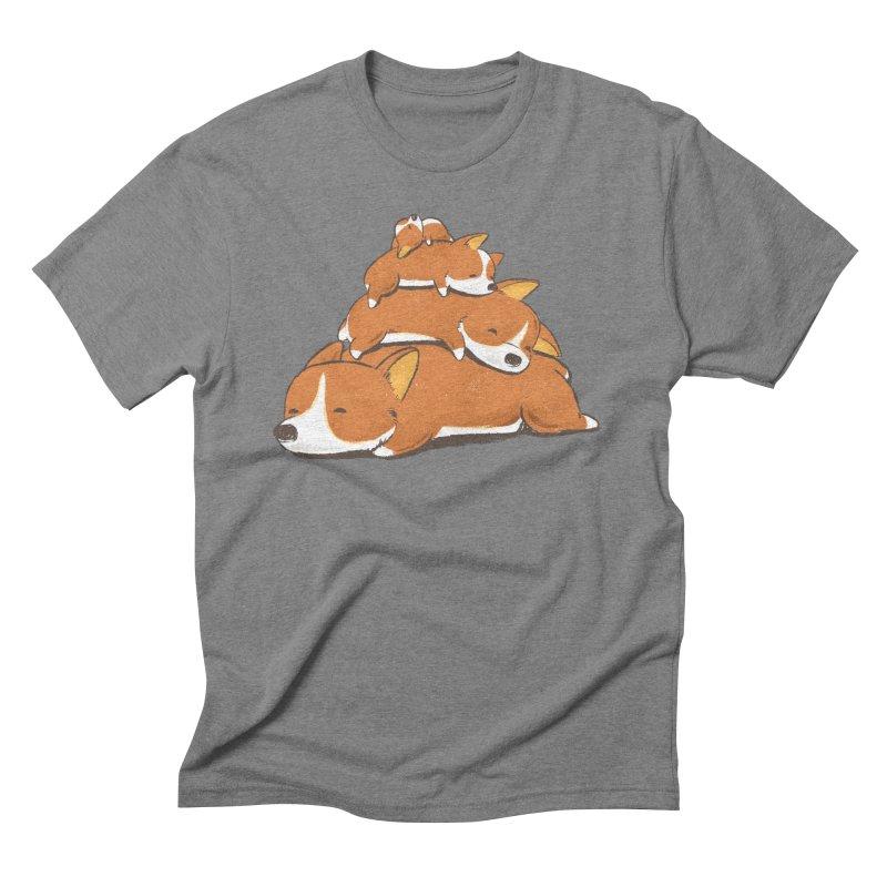 Comfy Bed - CORGI Men's Triblend T-Shirt by Flying Mouse365