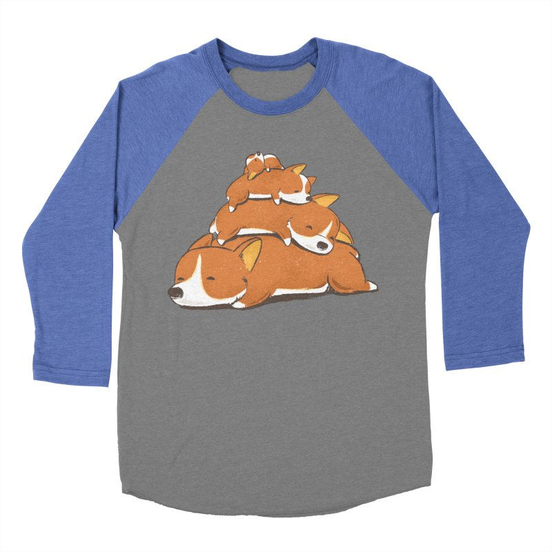 Comfy Bed - CORGI Men's Baseball Triblend T-Shirt by Flying Mouse365