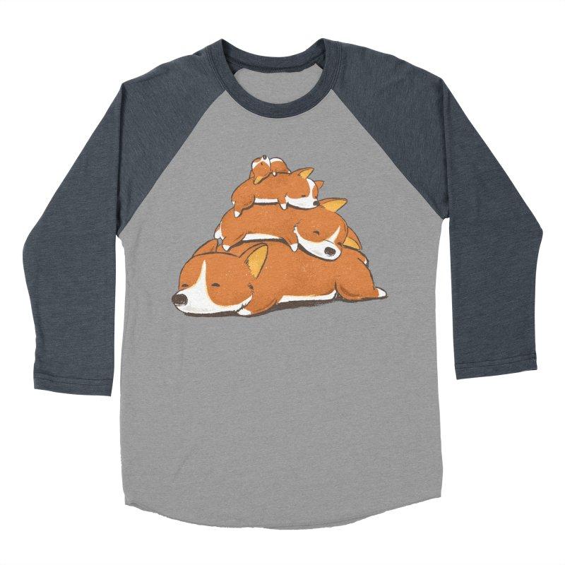 Comfy Bed - CORGI Men's Baseball Triblend T-Shirt by Flying Mouse365