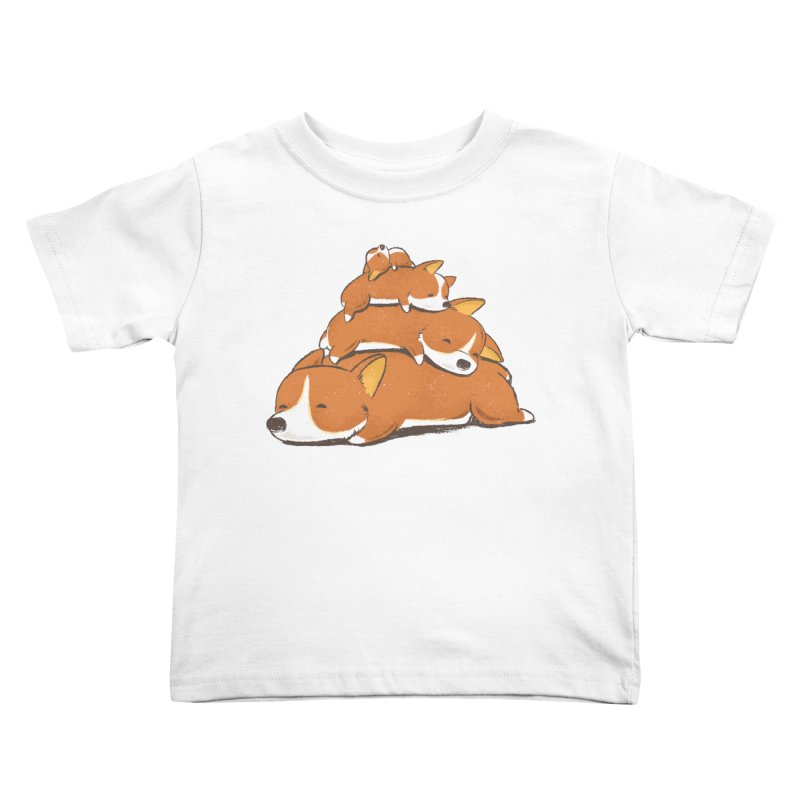 Comfy Bed - CORGI Kids Toddler T-Shirt by Flying Mouse365