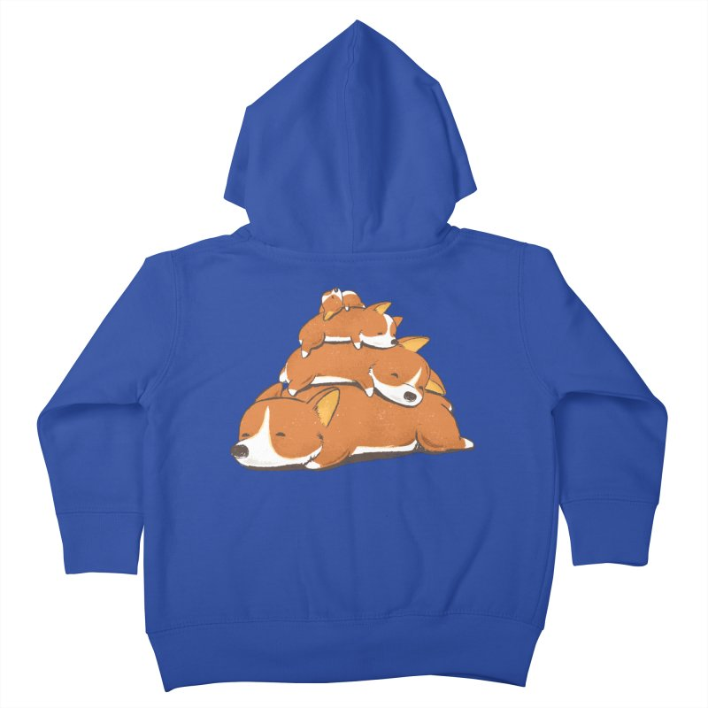 Comfy Bed - CORGI Kids Toddler Zip-Up Hoody by Flying Mouse365