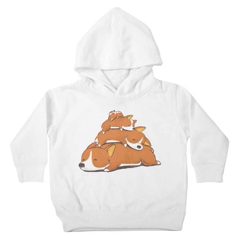 Comfy Bed - CORGI Kids Toddler Pullover Hoody by Flying Mouse365