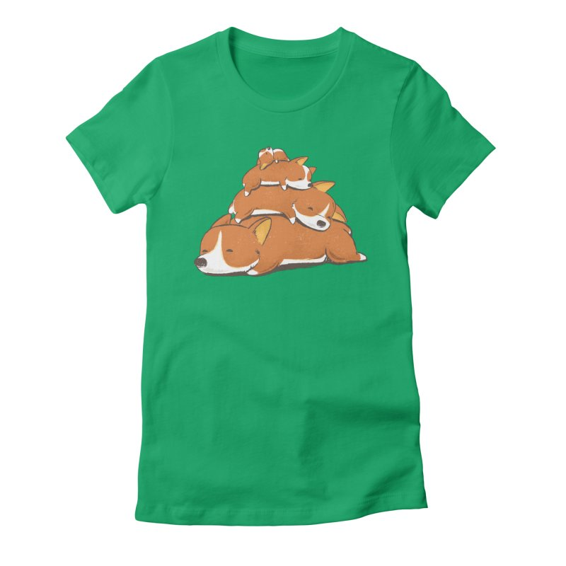 Comfy Bed - CORGI Women's T-Shirt by Flying Mouse365