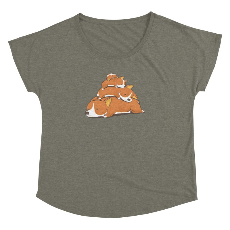 Comfy Bed - CORGI Women's Dolman by Flying Mouse365