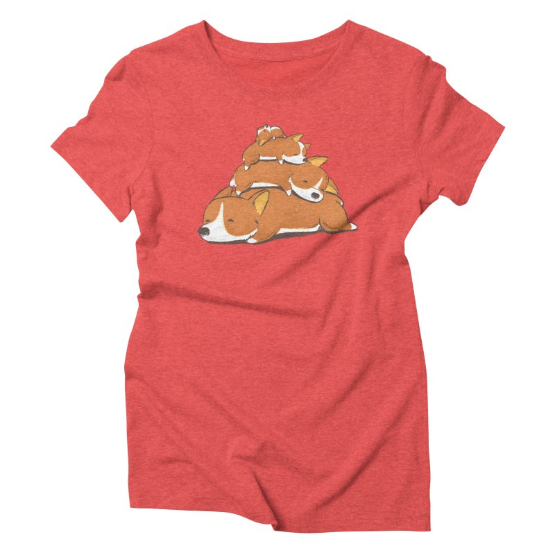 Comfy Bed - CORGI Women's Triblend T-Shirt by Flying Mouse365