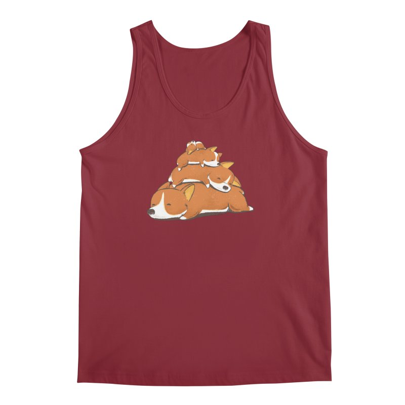 Comfy Bed - CORGI Men's Tank by Flying Mouse365