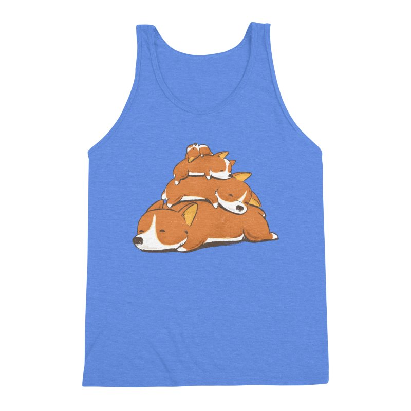 Comfy Bed - CORGI Men's Triblend Tank by Flying Mouse365