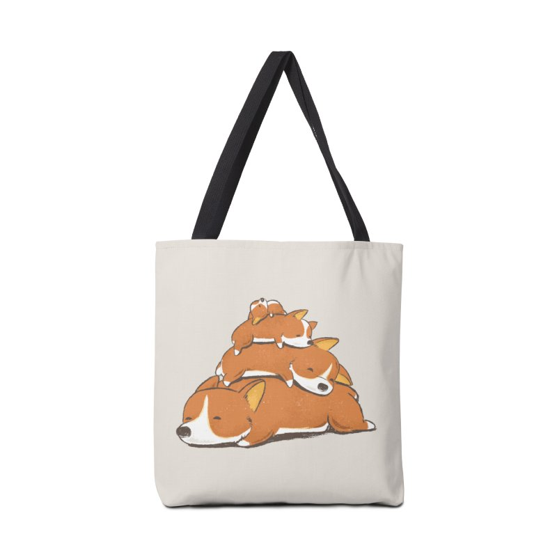 Comfy Bed - CORGI Accessories Tote Bag Bag by Flying Mouse365
