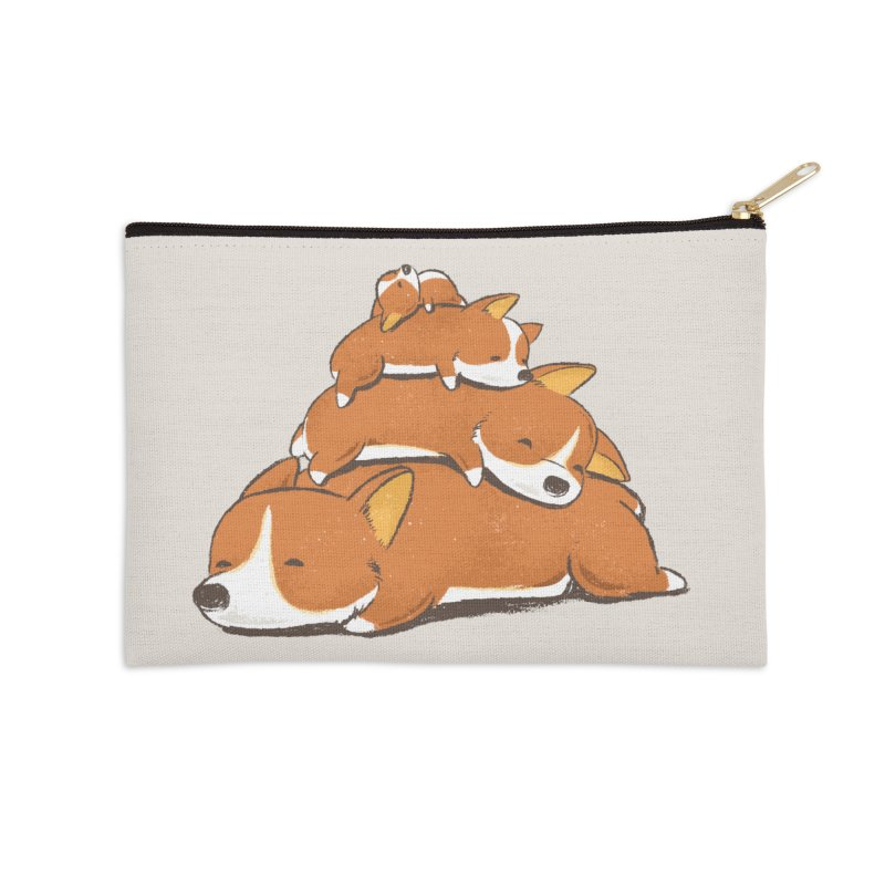Comfy Bed - CORGI Accessories Zip Pouch by Flying Mouse365