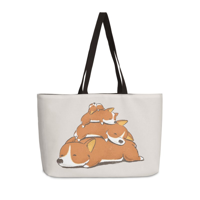 Comfy Bed - CORGI Accessories Weekender Bag Bag by Flying Mouse365