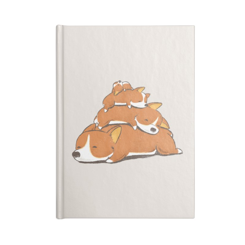 Comfy Bed - CORGI Accessories Blank Journal Notebook by Flying Mouse365
