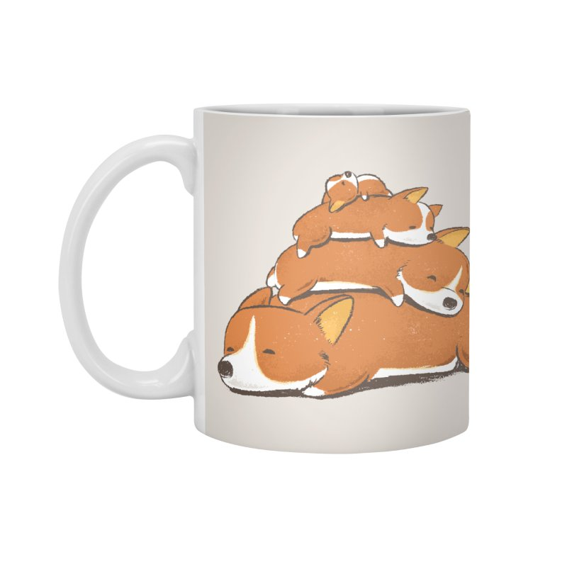 Comfy Bed - CORGI Accessories Mug by Flying Mouse365
