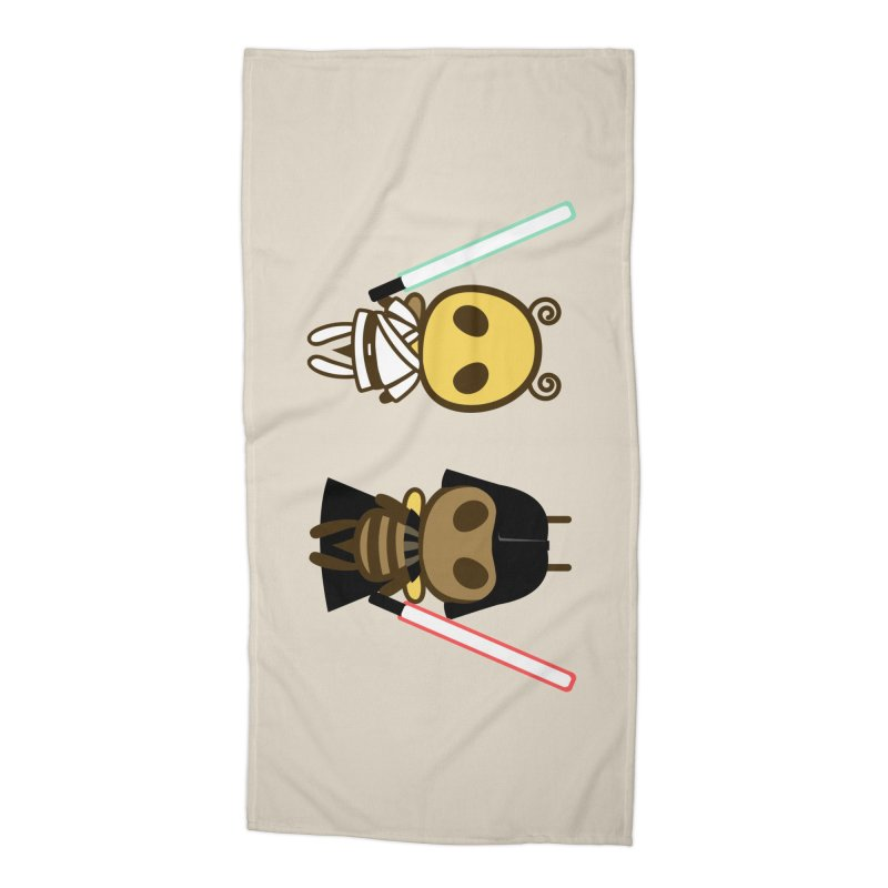 Bee Opposite - Good and Bad Accessories Beach Towel by Flying Mouse365