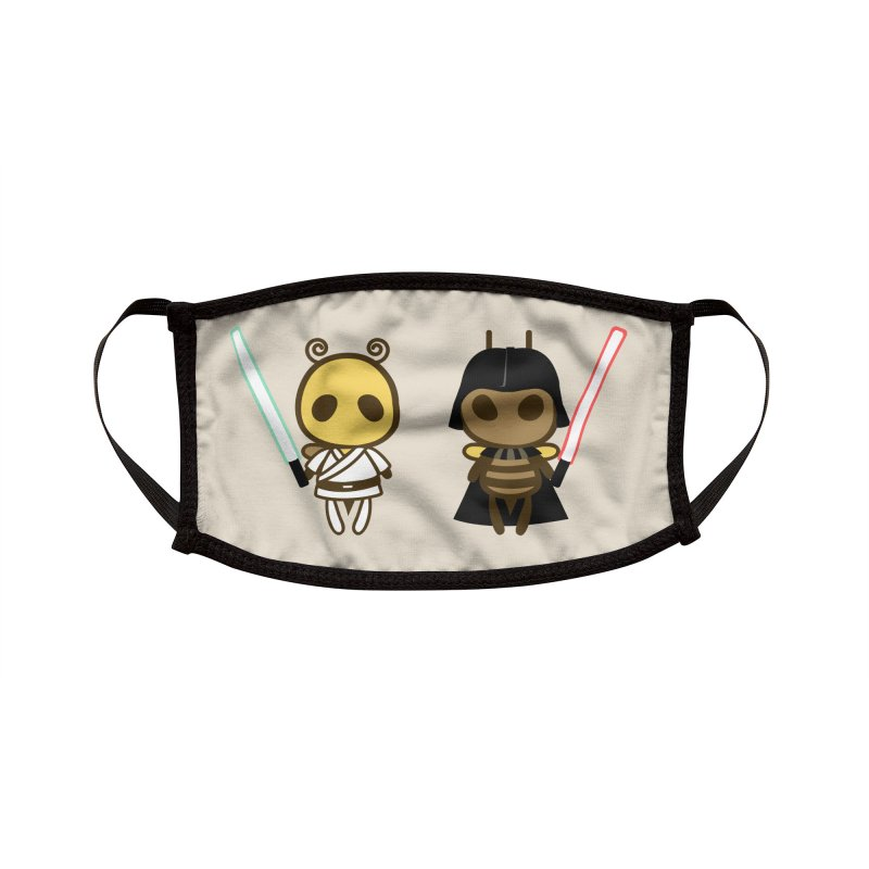Bee Opposite - Good and Bad Accessories Face Mask by Flying Mouse365