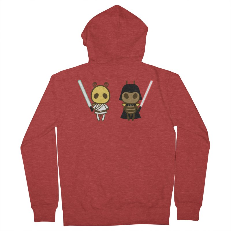 Bee Opposite - Good and Bad Women's French Terry Zip-Up Hoody by Flying Mouse365