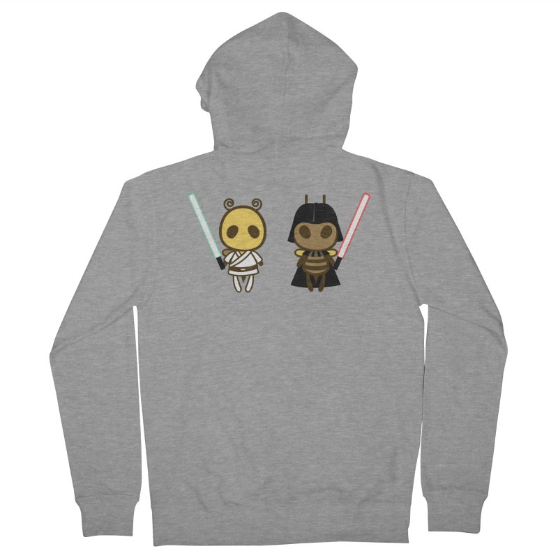 Bee Opposite - Good and Bad Men's Zip-Up Hoody by Flying Mouse365